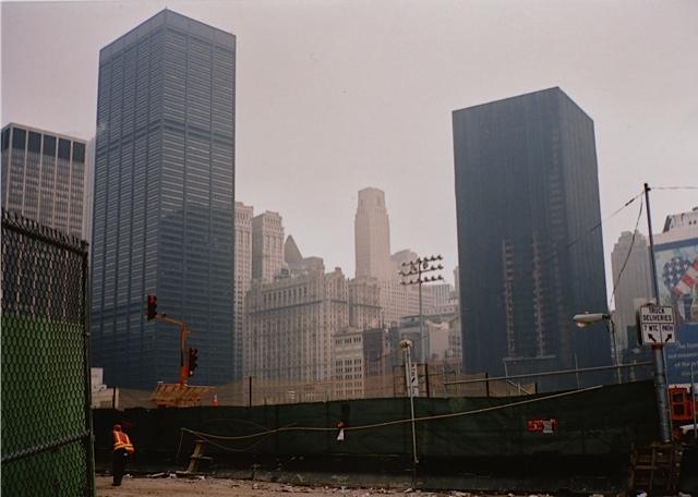 9・11トレード・センター崩壊の跡地/ニューヨーク