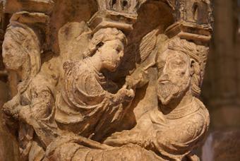 ディジョン考古学博物館 天使とヨセフ